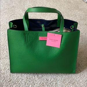"NWT kate spade -large satchel ""Sam"" green bean"